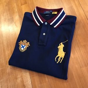 POLO RALPH LAUREN Color Tipped Big Pony Polo
